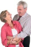 Freundliche fällige Paare Lizenzfreie Stockfotografie