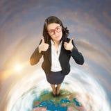 Freundliche Geschäftsfrau Stockfotos