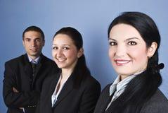 Freundliche Geschäftsleute Stockfotografie