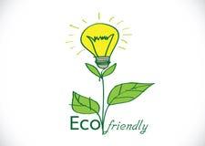 Freundliche Glühlampeanlage Eco Stockbild