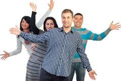 Freundliche Gruppe Freunde Lizenzfreie Stockfotografie