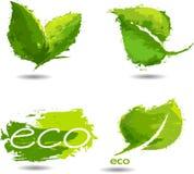 Freundliche Ikone der Ökologie Stockbilder