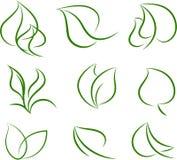Freundliche Ikonen der Ökologie Lizenzfreies Stockbild