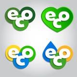 Freundliche Ikonen der Ökologie Stockfotografie