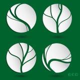 Freundliche Ikonen der Ökologie Stockfotos