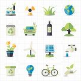 Freundliche Ikonen Eco Lizenzfreies Stockbild