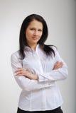 Freundliche junge Geschäftsfrau. Lizenzfreie Stockbilder
