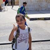 Freundliche Kinder in Amman, Jordanien lizenzfreie stockfotos