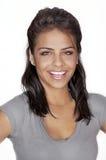 Freundliche lächelnde junge Frau Stockfotografie