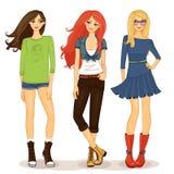 Freundliche Mädchen Lizenzfreie Stockbilder