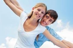 Freundliche Paare Lizenzfreie Stockfotos