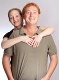 Freundliche Paare Stockbild