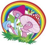 Freundliche Pilze Lizenzfreie Abbildung
