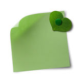 Freundliche Protokollanmerkung des Grüns und des eco Stockfoto