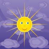 Freundliche Sonne im Himmel Stockbilder