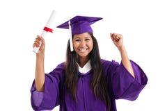 Freundlicher Hochschulabsolvent stockbilder