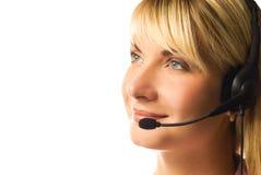 Freundlicher Hotlinesbediener lizenzfreie stockbilder