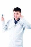 Freundlicher männlicher Doktor Stockfoto