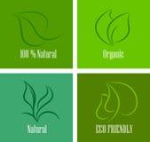 Freundlicher unterschiedlicher Ikonensatz der Ökologie Lizenzfreies Stockfoto