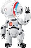 Freundlicher weißer Roboter Lizenzfreies Stockfoto