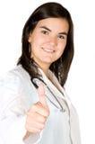 Freundlicher weiblicher Doktor Stockfotografie
