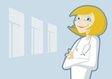 Freundlicher weiblicher Doktor lizenzfreie abbildung