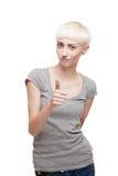 Freundliches beiläufiges blondes Mädchen Lizenzfreie Stockfotografie
