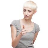 Freundliches beiläufiges blondes Mädchen Stockbilder