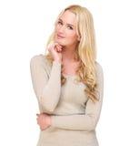 Freundliches blondes Mädchen Lizenzfreie Stockbilder