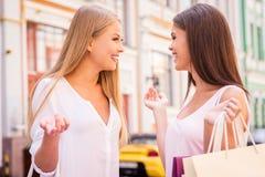 Freundliches Gespräch Lizenzfreies Stockbild