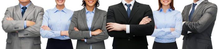 Freundliches internationales Geschäftsteam oder -gruppe Lizenzfreies Stockfoto