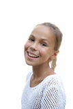 Freundliches jugendliches Mädchen lizenzfreies stockbild