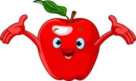 Freundliches Karikatur-Apple-Zeichen Lizenzfreie Stockfotografie