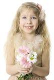 Freundliches Kind mit toothy Lächeln Stockfoto