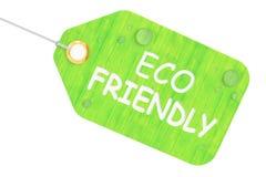 Freundliches Konzept Eco, grünes Tag Wiedergabe 3d Stockbilder
