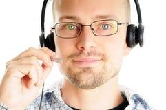 Freundliches Kundenkontaktcenter-Mittel Stockfoto