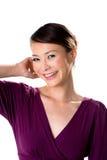 Freundliches Lächeln des asiatischen Mädchens Lizenzfreie Stockbilder
