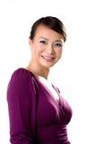 Freundliches Lächeln des asiatischen Mädchens Stockfotografie