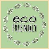 Freundliches Plakat Eco ?kologische und Nullabfallmotivation Gehen grünes und Plastik-freies Leben stock abbildung
