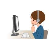 Freundliches Service-Vertreter Talking To Customer Stockfoto