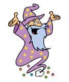 Freundliches Zaubererzeichen Stockfoto