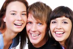 Freundschaft - junge Kursteilnehmer Stockfotografie