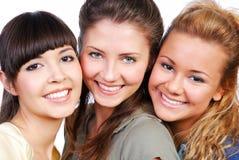 Freundschaft - Kursteilnehmerfreundinnen Stockbild