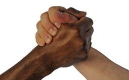 Freundschaft ohne ethnische Ränder stockbild
