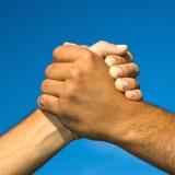 Freundschaft- und Friedenshintergrund Stockfotos