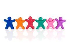 Freundschaft und Zusammengehörigkeit Stockbild