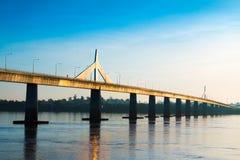 Freundschafts-Brücke Thailand - Laos Stockfoto