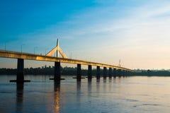 Freundschafts-Brücke Thailand - Laos Stockfotografie