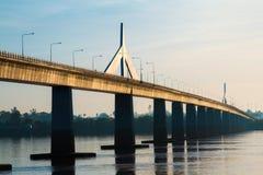Freundschafts-Brücke Thailand - Laos Stockfotos