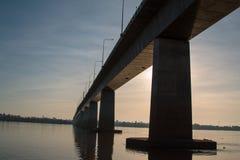 Freundschafts-Brücke Thailand - Laos Stockbilder